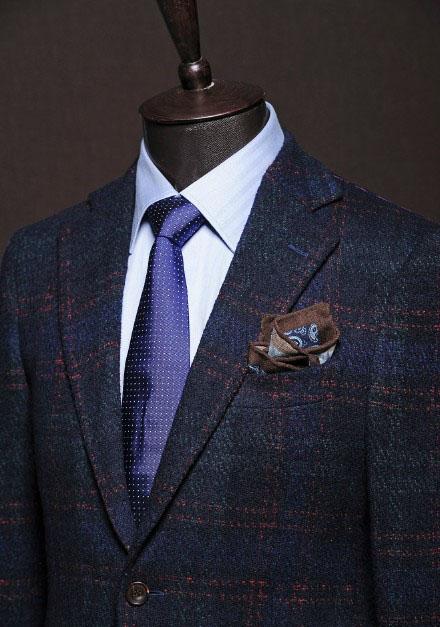 西装衬衫领带搭配方略